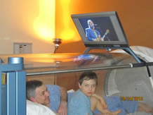 Hyperbaric Oxygen Treatments with Dad